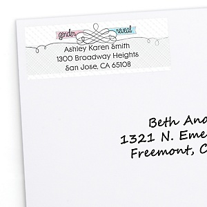 Gender Reveal - Personalized Party Return Address Labels - 30 ct