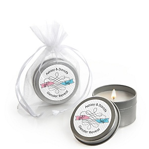Gender Reveal - Candle Tin Personalized Baby Shower Favors