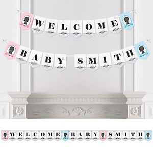Gender Reveal - Personalized Baby Shower Bunting Banner & Decorations