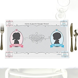 Gender Reveal - Personalized Party Placemats