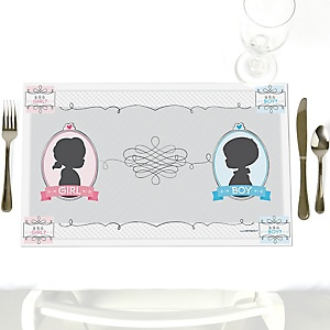 Gender Reveal - Party Table Decorations - Party Placemats - Set of 12