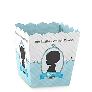 Gender Reveal - Boy - Party Mini Favor Boxes - Personalized Party Treat Candy Boxes - Set of 12