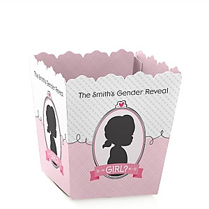Gender Reveal - Girl - Party Mini Favor Boxes - Personalized Party Treat Candy Boxes - Set of 12