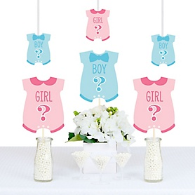 Gender Reveal - Baby Bodysuit Decorations DIY Party Essentials - Set of 20