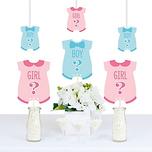 Gender Reveal - Baby Bodysuit Decorations DIY Party Essentials - Set of 20