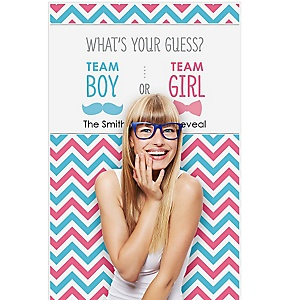 """Gender Reveal - Party Personalized Photo Booth Backdrops - 36"""" x 60"""""""
