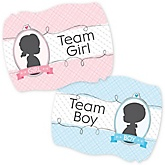 Gender Reveal - Gender Reveal Team Stickers - 16 ct