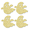 Gold Glitter Ghost - No-Mess Real Gold Glitter Cut-Outs - Halloween Party Confetti - Set of 24