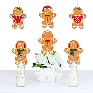 Gingerbread Christmas - Decorations DIY Gingerbread Man Holiday Party Essentials - Set of 20