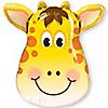 "Jolly Giraffe - Birthday Party Mylar Balloon - 32"""