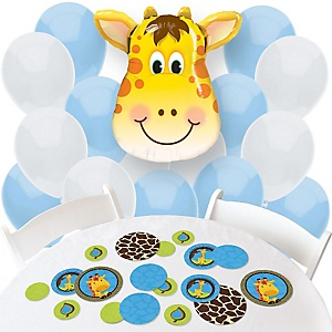 Giraffe Boy - Confetti and Balloon Party Decorations - Combo Kit