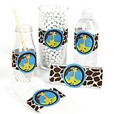Giraffe Boy - DIY Party Wrappers - 15 ct