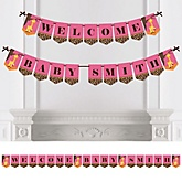 Giraffe Girl - Personalized Baby Shower Bunting Banner