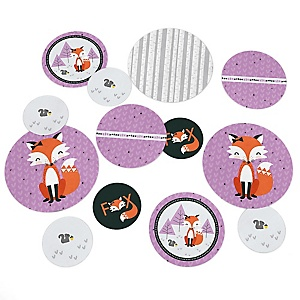 Miss Foxy Fox - Baby Shower or Birthday Party Table Confetti - 27 ct
