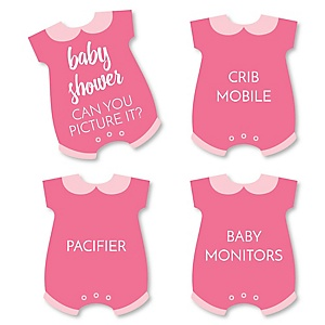 Baby Girl - Pink Baby Shower Game - Can You Picture It Card Game - Set of 24