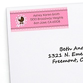 Girl Baby Carriage - Personalized Baby Shower Return Address Labels - 30 ct