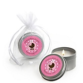 Girl Baby Carriage - Candle Tin Personalized Baby Shower Favors