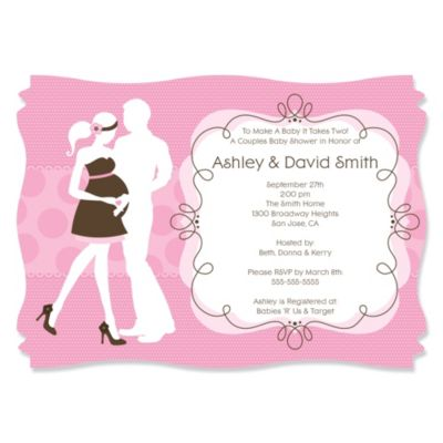 Silhouette Couples Baby Shower Its A Girl Personalized Baby