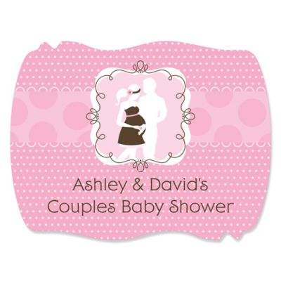 Silhouette Couples Baby Shower   Itu0027s A Girl   Personalized Baby Shower  Squiggle Stickers   16