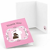 Silhouette Couples Baby Shower - It's A Girl - Baby Shower Thank You Cards - 8 ct