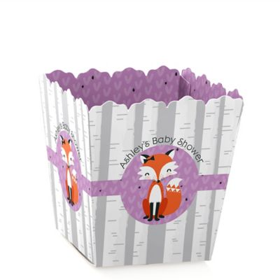 Miss Foxy Fox   Personalized Baby Shower Candy Boxes