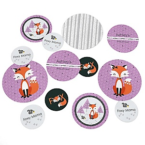 Miss Foxy Fox - Personalized Baby Shower Table Confetti - 27 ct