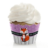 Miss Foxy Fox - Baby Shower Cupcake Wrappers & Decorations