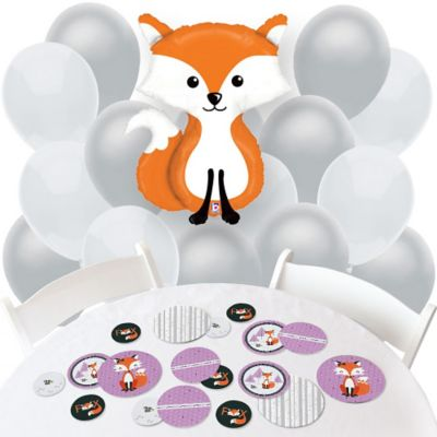 Miss Foxy Fox   Confetti And Balloon Party Decorations   Combo Kit