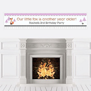 Miss Foxy Fox - Personalized Birthday Party Banners