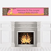 Giraffe Girl - Personalized Baby Shower Banners