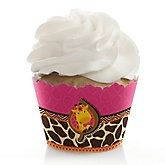 Giraffe Girl - Baby Shower Cupcake Wrappers & Decorations