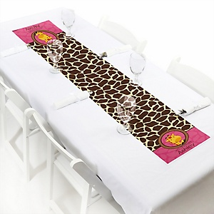 Giraffe Girl - Personalized Party Petite Table Runner