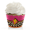 Giraffe Girl - Birthday Party Cupcake Wrappers & Decorations
