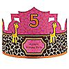 Giraffe Girl - Personalized Birthday Party Hats - 8 ct