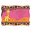 Giraffe Girl - Personalized Birthday Party Invitations
