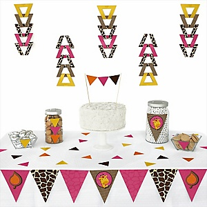 Giraffe Girl -  Triangle Party Decoration Kit - 72 Piece