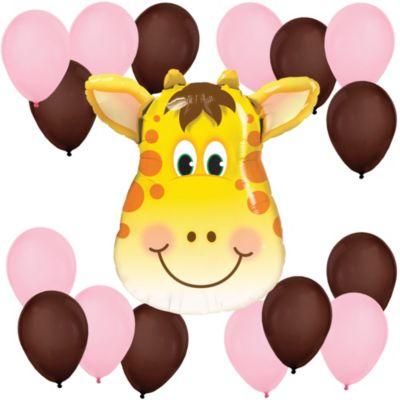 Girl Jolly Giraffe   Baby Shower Balloon Kit