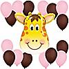 Girl Jolly Giraffe - Birthday Party Balloon Kit