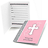 Little Miracle Girl Pink & Gray Cross - Fill in Party Invitations - 8 ct