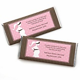 Mommy-To-Be Silhouette – It's A Girl - Personalized Baby Shower Candy Bar Wrapper Favors