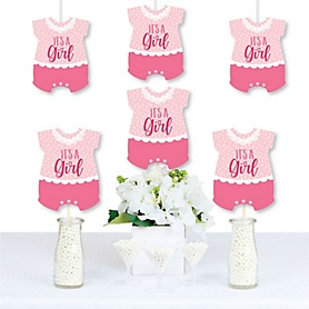 It's a Girl - Baby Bodysuit Decorations DIY Pink Baby Shower Essentials - Set of 20