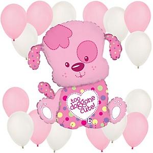Puppy Girl - Baby Shower Balloon Kit