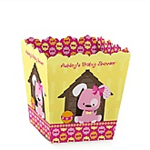Girl Puppy Dog - Personalized Baby Shower Candy Boxes