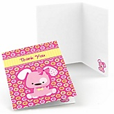 Girl Puppy Dog - Baby Shower Thank You Cards - 8 ct
