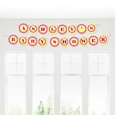 Girl Puppy Dog - Personalized Baby Shower Garland Letter Banners