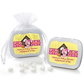 Girl Puppy Dog - Personalized Baby Shower Mint Tin Favors