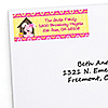 Girl Puppy Dog - Personalized Birthday Party Return Address Labels - 30 ct
