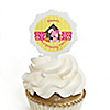 Girl Puppy Dog - Personalized Birthday Party Cupcake Pick and Sticker Kit - 12 ct