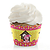 Girl Puppy Dog - Birthday Party Cupcake Wrappers & Decorations