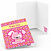 Girl Puppy Dog - Birthday Party Thank You Cards - 8 ct